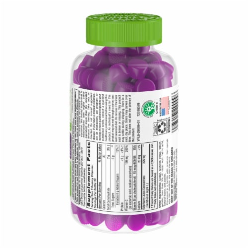 Vitafusion Elderberry Adult Gummies Perspective: back