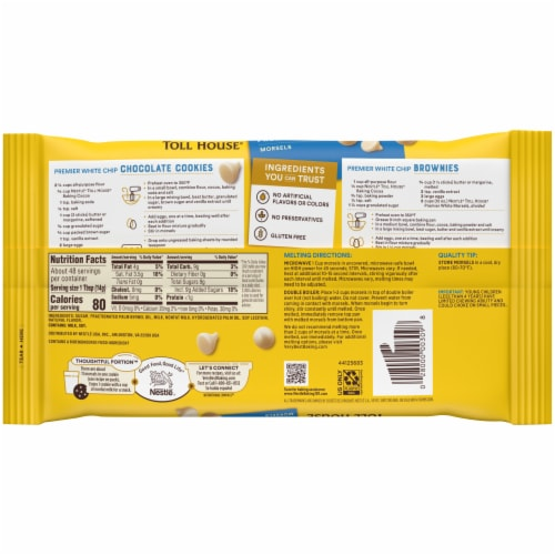 Nestle® Toll House® Premier White Morsels Perspective: back