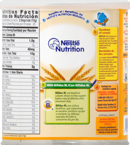 Nestle Nestum Cerelac Wheat with Milk Infant Cereal Perspective: back