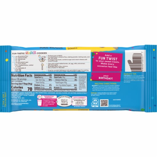 Nestle® Toll House® Funfetti Baking Morsels Perspective: back