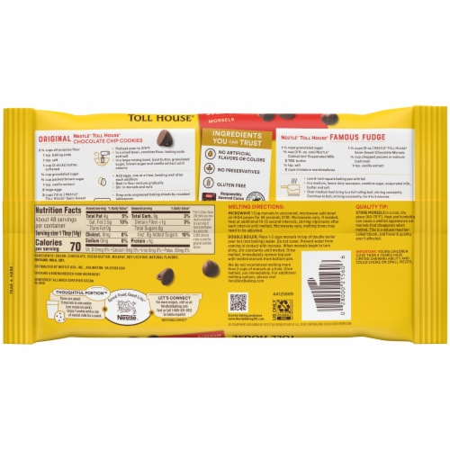 Nestle Toll House Semi Sweet Chocolate Chips Perspective: back