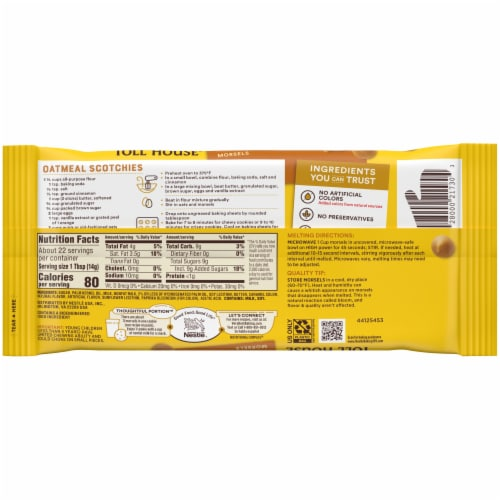 Nestle® Toll House® Butterscotch Morsels Perspective: back