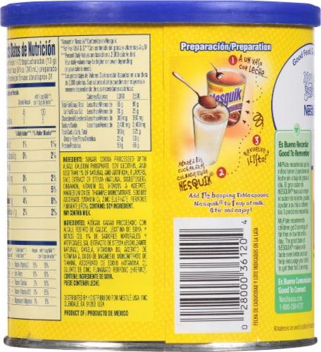 Nestle Nesquik Chocolate Flavor Drink Mix Perspective: back