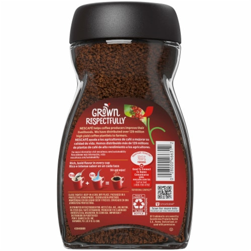 Nescafe Clasico Dark Roast Instant Coffee Perspective: back