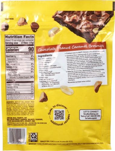 Nestle Toll House Chocolate Peanut Caramel Morsels & More Perspective: back