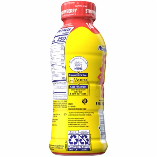 Nesquik® Strawberry Lowfat Milk Perspective: back