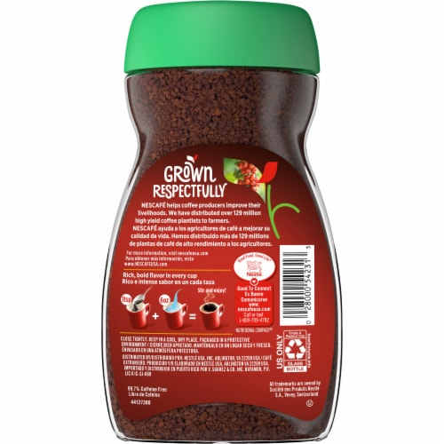 Nescafe Clasico Decaf Dark Roast Instant Coffee Perspective: back