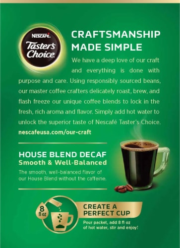 Nescafe Taster's Choice Decaf House Blend Instant Coffee Packets Perspective: back
