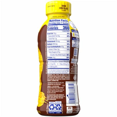 Nesquik Dark Chocolate Whole Milk Perspective: back