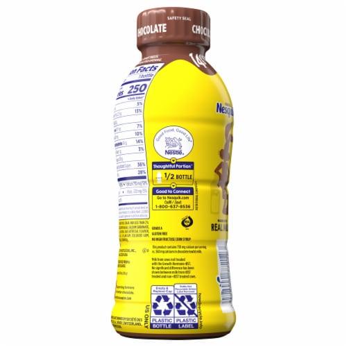Nesquik Chocolate Flavored Low Fat Milk Perspective: back