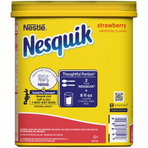Nesquik® Strawberry Powdered Drink Mix Perspective: back
