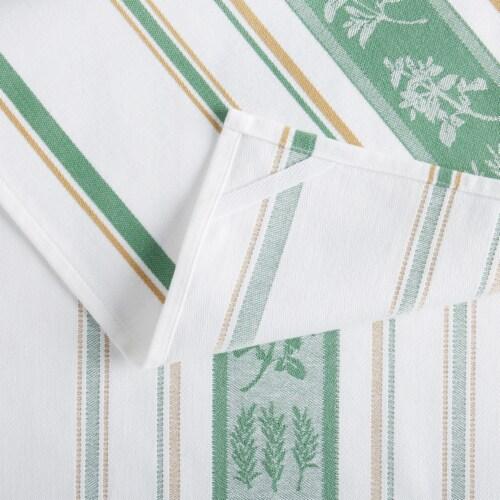 Martha Stewart Herbs Kitchen Towel Set - Green Perspective: back