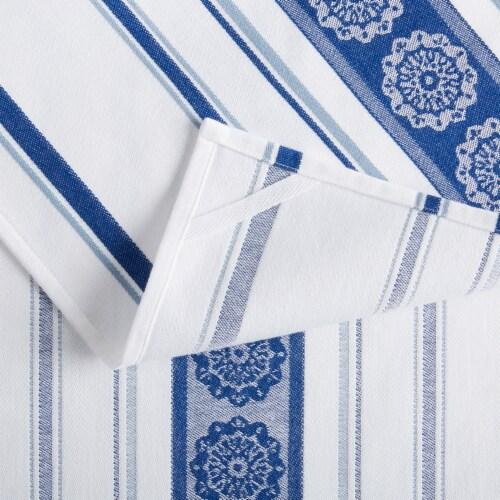 Martha Stewart Medallion Kitchen Towel Set - Blue Perspective: back