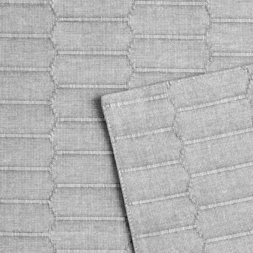 Martha Stewart Honeycomb Rectangle Placement - Gray Perspective: back