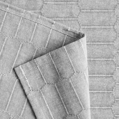 Martha Stewart Honeycomb Tablecloth - Gray Perspective: back
