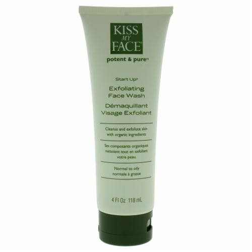 Kiss My Face Start Up Exfoliating Face Wash Perspective: back