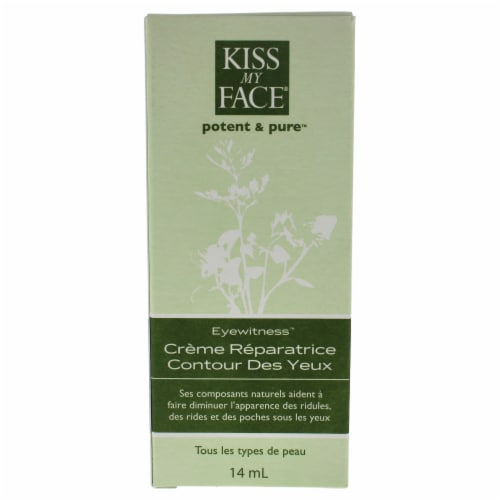Eyewitness Eye Repair Cream by Kiss My Face for Unisex - 0.5 oz Cream Perspective: back