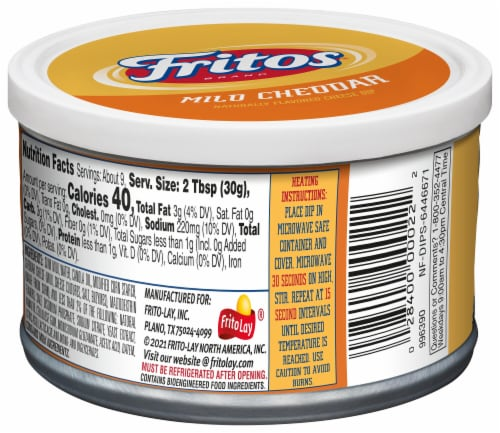 Fritos® Mild Cheddar Naturally Flavored Cheese Dip Perspective: back