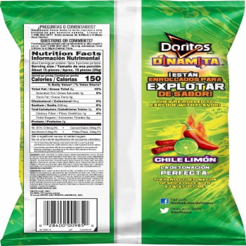 Doritos Dinamita Chili Limon Flavored