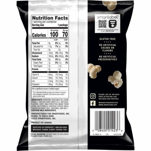 Smartfood® White Cheddar Flavored Popcorn Perspective: back