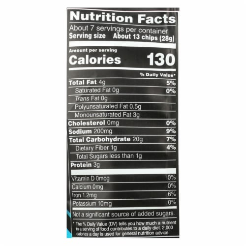 Stacy's Pita Chips Simply Naked Pita Chips - Case of 8 - 6.75 oz. Perspective: back