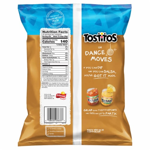 Tostitos Scoops! Multigrain Tortilla Chips Perspective: back