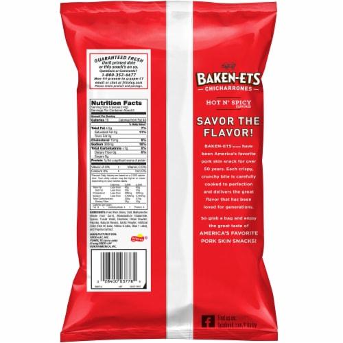 Baken-Ets Hot & Spicy Flavored Fried Pork Rinds Skins Snacks Perspective: back