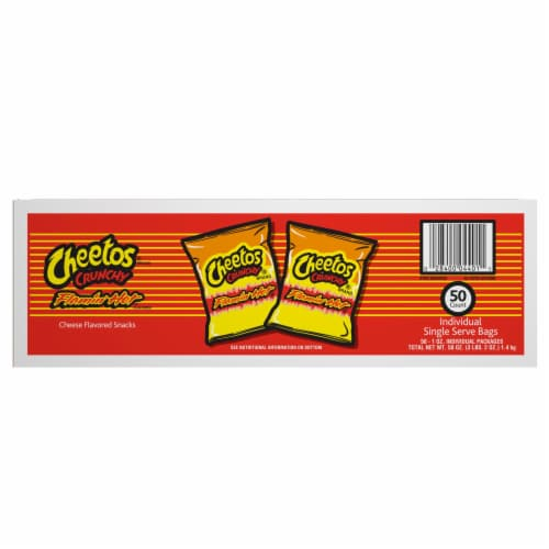 Cheetos® Crunchy Flamin' Hot® Cheese Flavored Snacks Perspective: back