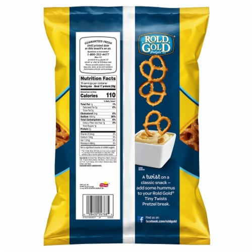 Rold Gold Classic Tiny Twists Pretzels Snacks Perspective: back