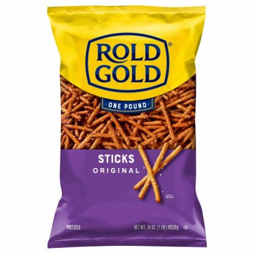 Rold Gold Classic Pretzel Sticks Snacks Perspective: back