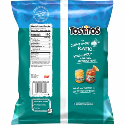 Tostitos Original Restaurant Style Tortilla Chips Perspective: back