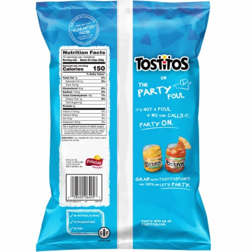 Tostitos Tortilla Chips Bite Size Rounds Snacks Perspective: back