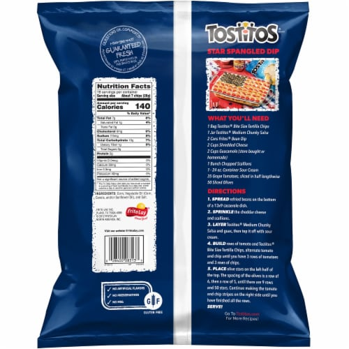Tostitos Original Restaurant Style Tortilla Chips Party Size Perspective: back