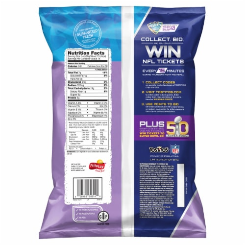 Tostitos® Scoops Tortilla Chips Snacks Perspective: back