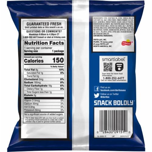 Doritos Cool Ranch Flavored Tortilla Chips Perspective: back