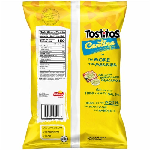 Tostitos Cantina Traditional Tortilla Chips Snacks Perspective: back