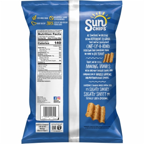 Sun Chips Original Whole Grain Snacks Perspective: back