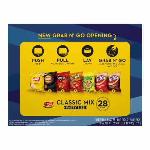 Frito-Lay® Classic Mix Snacks & Potato Chips Variety Pack Perspective: back