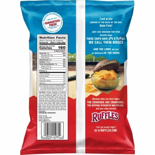 Ruffles Potato Chips Cheddar & Sour Cream Flavor Snacks Perspective: back