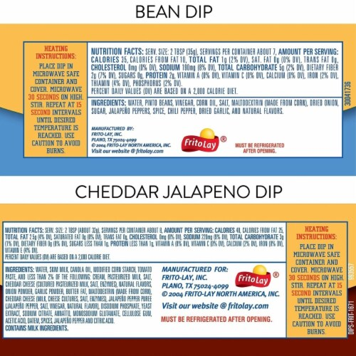 Fritos Dips Variety Pack, 9 Ounce (3 Pack) Perspective: back