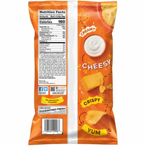 Lay's Potato Chips Cheddar & Sour Cream Flavor Snacks Perspective: back