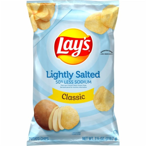 Lay's® Lightly Salted Potato Chips Perspective: back