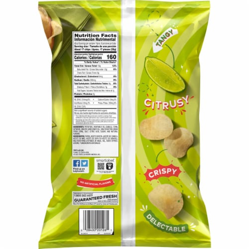 Lay's Potato Chips Limon Flavored Snacks Perspective: back