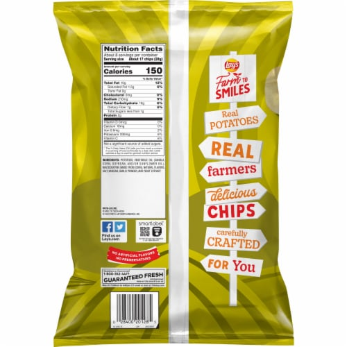 Lay's Dill Pickle Flavored Potato Chips Perspective: back