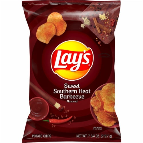 Lay's Sweet Southern Heat Barbecue Flavored Potato Chips Perspective: back