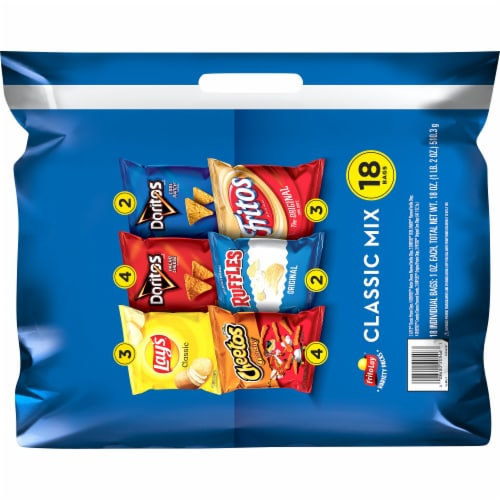 Frito-Lay® Classic Mix Snacks & Chips Variety Pack Perspective: back