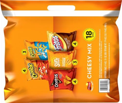 Frito-Lay Cheesy Snacks & Chips Mix Perspective: back