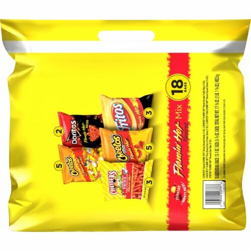 Frito-Lay® Flamin' Hot Snacks & Chips Mix Variety Pack Perspective: back