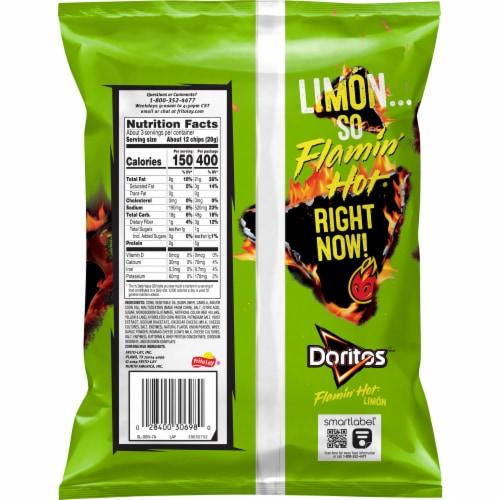 Doritos Flamin' Hot Limon Flavored Tortilla Chips Perspective: back