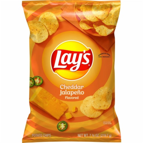 Lay's® Cheddar Jalapeño Flavored Potato Chips Perspective: back